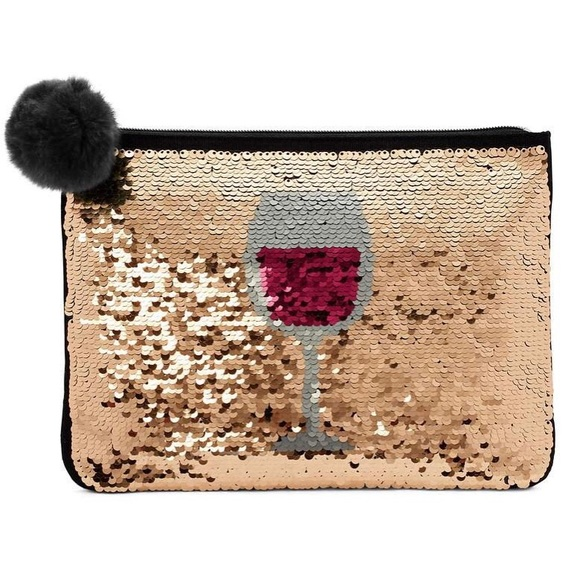 sells speical offer hot sale Stella & Dot Sequin changing red wine clutch NWT